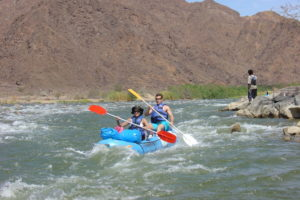 best adventure fun rafting the Orange River more safely than the Mohawk canoe