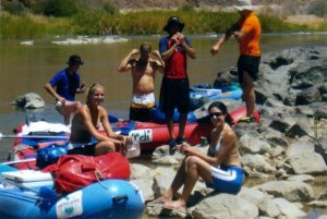 Awesome experience with the NY Party on the Orange River canoeing